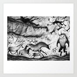 Fantasy Cave Painting Art Print