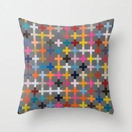 Glaze to Grey Throw Pillow