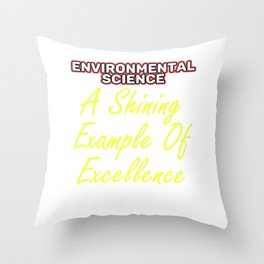 Empowerment Excellence Tshirt Design Tested for excellence Throw Pillow
