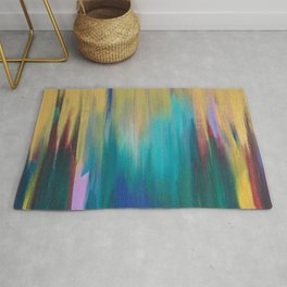 Green & Gold Abstract Rug