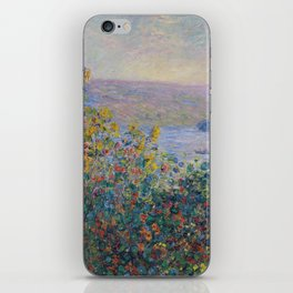 Flower Beds at Vetheuil by Claude Monet iPhone Skin
