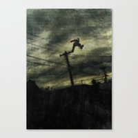 hunting Canvas Prints featuring Hunting by Matthew Dunn