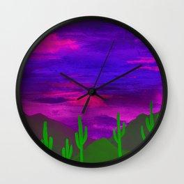 Saguaros Illuminated Wall Clock
