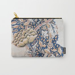 Design for Windrush by William Morris 1883 // Romanticism Blue Red Yellow Color Filled Floral Design Carry-All Pouch
