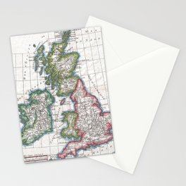 Vintage Map of British Isles (1780) Stationery Cards