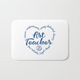 Art teacher, heart, art education Bath Mat