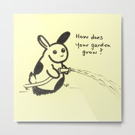 Post-it Collection: Spring Bunny (1) Metal Print