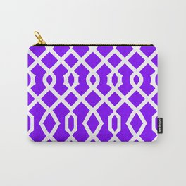 Grille No. 3 -- Indigo Carry-All Pouch