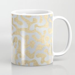 Modern elegant abstract faux gold silver pattern Coffee Mug