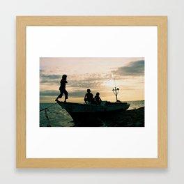 Caribbean Coast Kasusain White Beach Framed Art Print