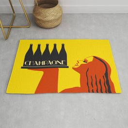 Champagne Summer Sea Fun Rug