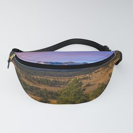 Rocky Mountain High - Moonlight Drenches Colorado Landscape Fanny Pack