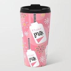 Fleur Milk Bottles Metal Travel Mug