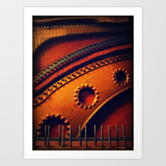 piano skeleton Art Print