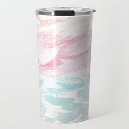 Ocean Abstract, Pastel & Gray Travel Mug