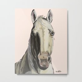 Horse Art, Farm Animal Art Metal Print
