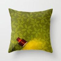wallpaper Throw Pillows featuring Wallpaper by Georgios Karamanis