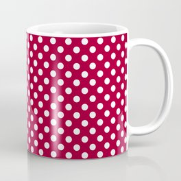 Red and Polka White Dots Coffee Mug
