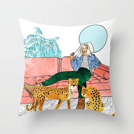 Quality Time #illustration #painting Throw Pillow