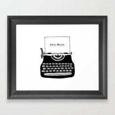 Hello World. Framed Art Print