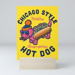 Da Chicago Dog With Text Mini Art Print