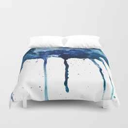 ROYAL BLUE GALAXY SPLASH Duvet Cover