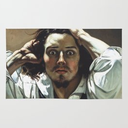 Gustave Courbet-The Desperate Man Rug