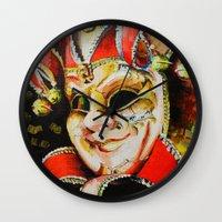 clown Wall Clocks featuring CLOWN by ArtPavo