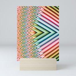 Sun Shard II. Pastel Abstract Chevron Mini Art Print