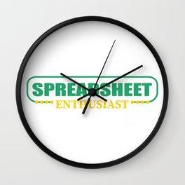 Accountant table spreadsheet gift Wall Clock