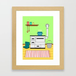 Vintage kitchen Framed Art Print