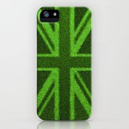 Grass Britain / 3D render of British flag grown from grass iPhone Case