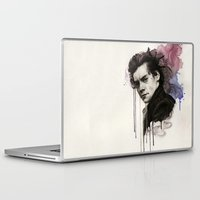 harry styles Laptop & iPad Skins featuring Harry Styles by bellavigg