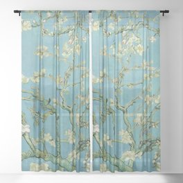 "Vincent van Gogh ""Almond Blossoms"" Sheer Curtain"