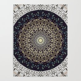 Brushed Bronze Mandala Design Poster