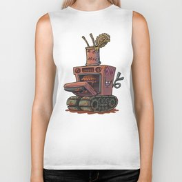 Robot pie thrower Biker Tank