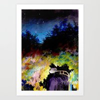 twilight Art Prints featuring Twilight by Ivanka Costru
