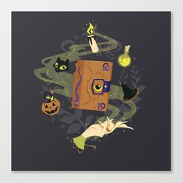 Booooook! (It's Just a Bunch of Hocus Pocus) Canvas Print
