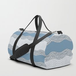Wavy River VI in blue and grays Duffle Bag