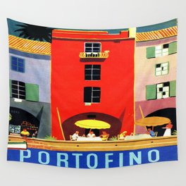 Vintage poster - Portofino Wall Tapestry