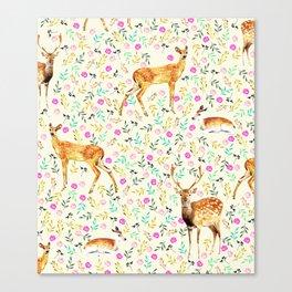 Deers #society6 #illustration #christmas Canvas Print