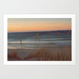 Sunkissed Beach Art Print