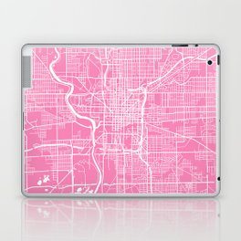 Indianapolis map pink Laptop & iPad Skin