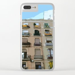 Barcelona Building  Clear iPhone Case