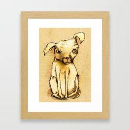 Ugly dog II Framed Art Print