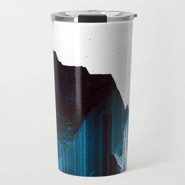 Glitch Valley Blue Travel Mug