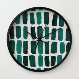 Teal Dashes Wall Clock