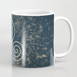 Triskelion Golden Three Spiral Celtic Symbol Coffee Mug