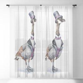 Victorian Gentleman Goose Sheer Curtain