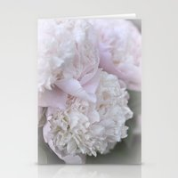 peonies Stationery Cards featuring Peonies by DuniStudioDesign